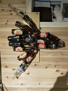Bottle Sun Fish Wall Sculpture (FREE SHIPPING IN U.S.A)