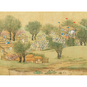 Wooden Jigsaw Puzzles 500 PCS Riverside Scene at Qingming Stage Toy Gift Decor