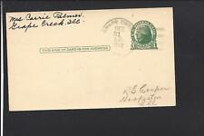 GRAPE CREEK, ILLINOIS 1948 GOVERNMENT POSTAL CARD, VERMILLON CO 1881/OP.