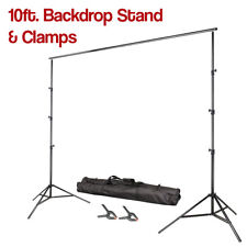 """10"""" Adjustable Background Muslin Support System Kit w/ Backdrop Clamps Carry Bag"""