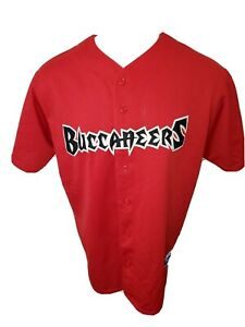 TAMPA BAY BUCCANEERS NFL STITCHED Baseball Jersey ADULT XL Vtg Mlb