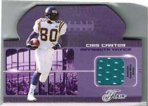 Cris Carter 2003 Fleer Flair Jersey Patch Die Cut