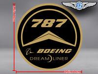 OLD VINTAGE STYLE ROUND BOEING B 787 B787 LOGO DECAL / STICKER