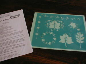 TRI CHEM AUTUMN BERRIES AND FOLIAGE REUSABLE PLASTIC STENCIL  ARTS AND CRAFTS