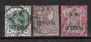 Great Britain #O46 - #O48 VF Used Rare Set