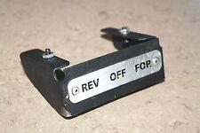 RIDGID 535 threader power switch cover rigid pipe threading tool part # 96452