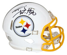 TJ Watt Autographed/Signed Pittsburgh Steelers Flat White Mini Helmet JSA 28467