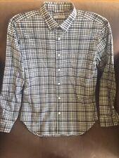 7 Seven For All Mankind Men's Long Sleeve Shirt Button Up Black Plaid Medium M