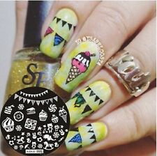 Nail Art Stamping Plate Image Decoration Easter Chocolate Eggs Cupcakes (Hehe55)