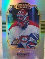 2019-20 UPPER DECK STATURE PORTRAIT PATRICK ROY SP/85 MONTREAL CANADIENS NHL