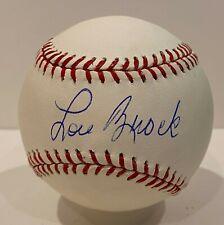 Lou Brock Single Signed Baseball Autographed AUTO JSA COA Cardinals HOF