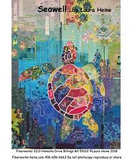 Seawell Sea Turtle Collage Quilt Pattern By Laura Heine of Fiberworks