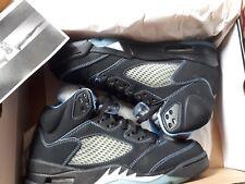 Nike Air JORDAN 5 black university blue 095 RARE SUPREME OFF WHITE FRESH PRINCE