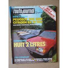 Auto-Journal n°16-83, Peugeot 205 GRD, Citroën BX 19 TRD, Ford Sierra GL, Lancia