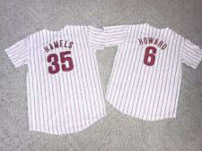 2 Philadelphia Phillies Baseball Jersey Youth L & XL World Series Hamels Howard