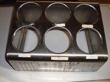 Commercial 6-Hole Stainless Steel Cylinder Silverware Utensil Holder