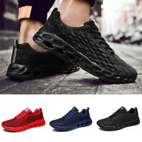 US 12 Men Running Breathable Trainers Shoes Sports Casual Mesh Athletic Sneakers