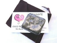 Shungite XL 60g Pocket Stone Purple Pouch Card Tumbled Russia Protection Cleanse
