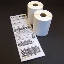 2 Rolls 4x6 Direct Thermal Shipping Labels - 250/roll - Zebra 2844 ZP450 Eltron