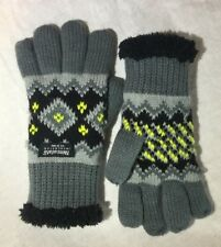 Girls' Knit Winter Gloves With 40 gram Thinsulate L/XL Toddler Knit/Sherpa gray