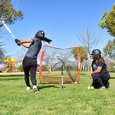 5'x5' Folding Baseball Net w Portable Carry Case and Strike Zone Bow Style Frame