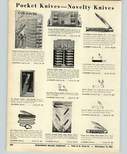 1956 PAPER AD Sure Snap Automatic Pocket Knife Knives Switch Blade Store Display