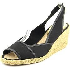 Sandalias y chanclas de mujer de tacón medio (2,5-7,5 cm) de lona talla 37
