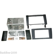 CT23MB09 MERCEDES SLK R171 2004 TO 2011 BLACK DOUBLE DIN FASCIA ADAPTER KIT