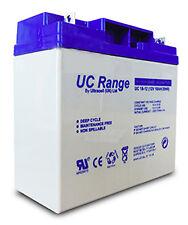 Batteria Ermetica 18A 12V Ultracell Deep Cycle Ideale per FOTOVOLTAICO