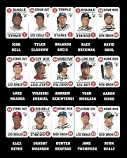 2017 TOPPS HERITAGE 1968 GAME CARD ROOKIES RED BACKS COMPLETE SET (15 CARDS)
