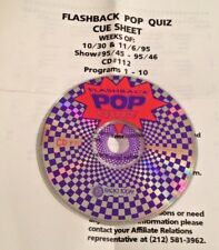 RADIO SHOW: FLASHBACK POP QUIZ 10/30/95 10 DAILY SHOWS GRACE SLICK,KEITH EMERSON