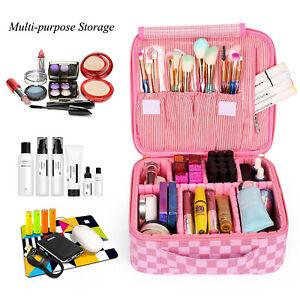 Luxy Makeup Bag Organizer Adjustable Pink Checkered Designer Style Louis Vuitton