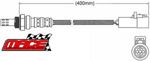 2 X MACE POST-CAT O2 SENSOR FOR FORD BARRA BOSS 2ZA 220 230 260 290 4.6L 5.4L V8
