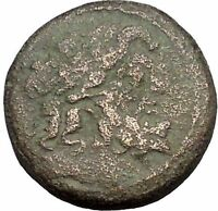ANTIOCH in SELEUKIS and PIERIA 56BC Zeus Tyche Luck Ancient Greek Coin i50348