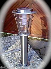 Alta Calidad 60CM ACERO inox. Lámpara Solar MIT 6 LED Jardín de Patio 190