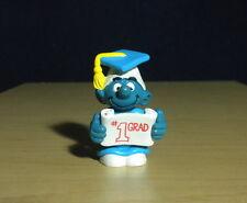 Smurfs # 1 Grad Smurf Graduate Vintage Figure Graduation Toy Peyo Schlumpf 20195