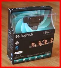 """Lot of 2"" New Logitech HD Pro C920 WebCam 1080p Widescreen Video Retail box"