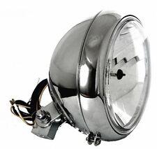 "7"" Scheinwerfer Klarglas Chrom Big Custom für Harley-Davidson Dyna"