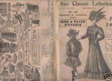 """CATALOGUE DE MODE """"AUX CLASSES LABORIEUSES"""" 1908"""