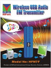 HiFast USB Wireless FM Audio Transmitter  for Laptop & Desktop Computer HFM7F