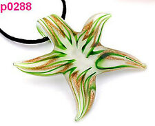 1pc new Starfish Lampwork Pendant Necklace p0288