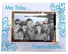 """Cadre photo """"Ma Tribu Formidable"""" à poser horizontal idée cadeau famille neuf"""
