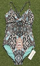New Seafolly Kashmir Wrap Front Maillot in Black - Size AU12 / US8