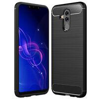 SDTEK Funda para Huawei Mate 20 Lite [Fibra de Carbon TPU] Case Cover