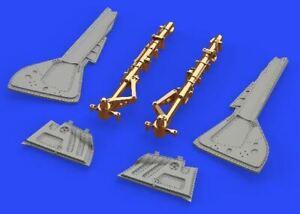 EDUARD 1/48 AIRCRAFT- FW190A5 UNDERCARRIAGE LEGS FOR EDU BRONZE & RESIN 648436