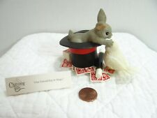 Charming Tails Our Friendship Is Magic Rabbit Top Hat Cards Bird Figurine 89/162