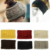 Womens Ponytail Beanie Hat Messy Bun Crochet Cap Winter Warm Knitted Stylish Hat