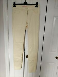 Ladies Pale Lemon Skinny Jeans Size 10L By Tu