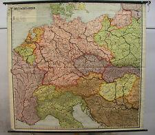 Schulwandkarte vintage map Groß-Deutschland Deutsches Reich ~1937 200x168 card