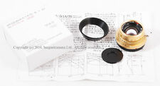 New MS-Optical 35mm f/1.4 APOQUARIA-G F. MC Leica M mount in gold plated